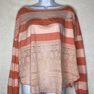 We The Free Striped Off Shoulder Top